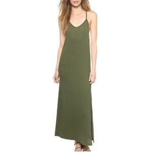 Zoe || LNA Textured Army Green Maxi